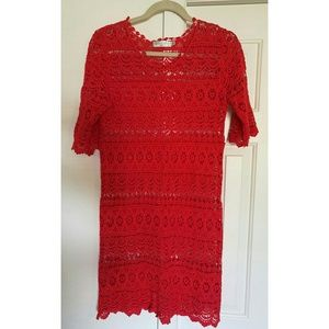 Red Cover Up Sz S Beach Festival